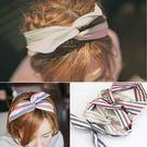 淡雅條紋軟鐵絲髮帶 頭飾 髮帶 彈性髮帶...