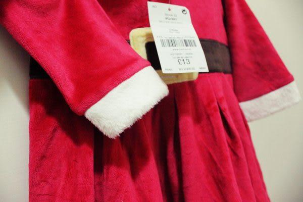 ☆橘魔法↗Baby magic ☆《現貨》BB214  聖誕老人連帽洋裝 聖誕節