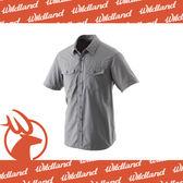 【Wildland 荒野 男 排汗抗UV短袖襯衫《中灰》】W1206-92/透氣排汗/UPF30+/防曬襯衫/登山★滿額送