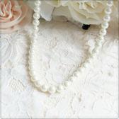 L015-簡約大方百搭款珍珠長鍊項鍊~美之札