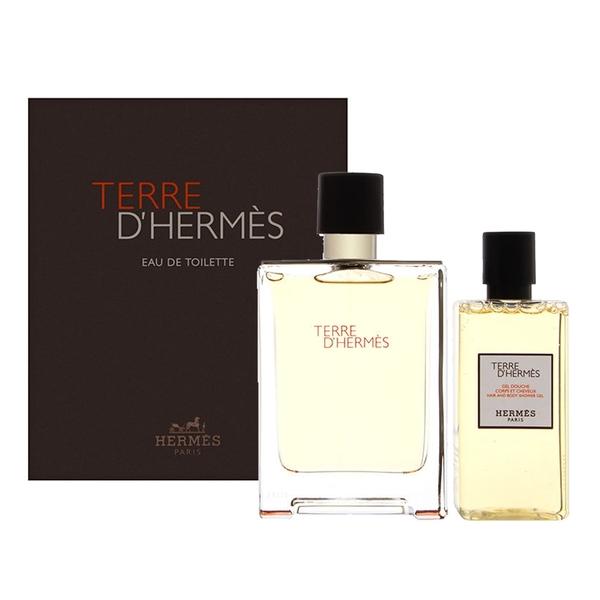 Hermes 愛馬仕 大地男性淡香水禮盒 淡香水100ml+沐浴洗髮露80ml Vivo薇朵
