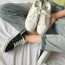 【偏小半碼】簡約休閒帆布鞋 半拖鞋 懶人鞋 運動鞋 女鞋 小白鞋 休閒鞋 編號S-6 半邊天