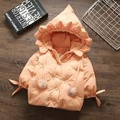 兒童棉服女 女童冬季外套羽絨棉服加厚嬰兒冬裝兒童公主棉衣小童【快速出貨八折搶購】