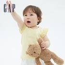 Gap女幼童 甜美鏤空花邊袖T恤 681235-黃色條紋
