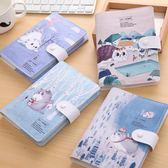 創意韓國小清新可愛貓咪手賬本 筆記本文具 厚本子彩頁記事本皮本 預熱狂歡節