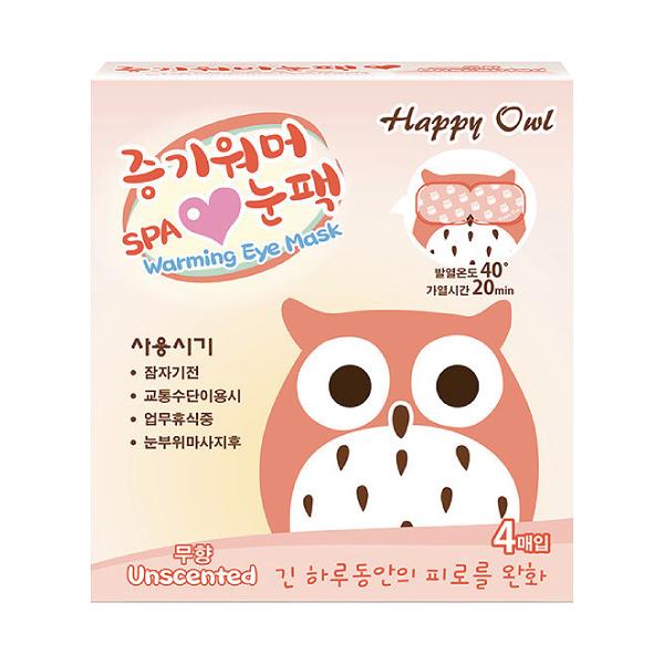 Happy Owl快樂貓頭鷹SPA眼罩4入/無香【杏一】