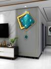 北歐鐘表掛鐘客廳現代簡約家用時尚創意個性掛表輕奢裝飾時鐘掛墻 南風小鋪