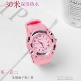 兒童錶-男女孩小學生防水兒童手錶電子防水果凍兒童指針式錶 夏沫之戀