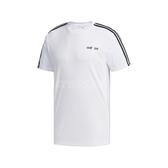 adidas 短袖T恤 D2M 3-Stripes Tee 白 黑 男款 短T 運動 訓練 【ACS】 FL0356