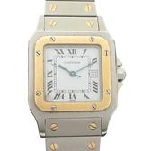 Cartier 卡地亞 Santos Galbee系列白面方框自動上鍊機械腕錶 C05101901X【BRAND OFF】