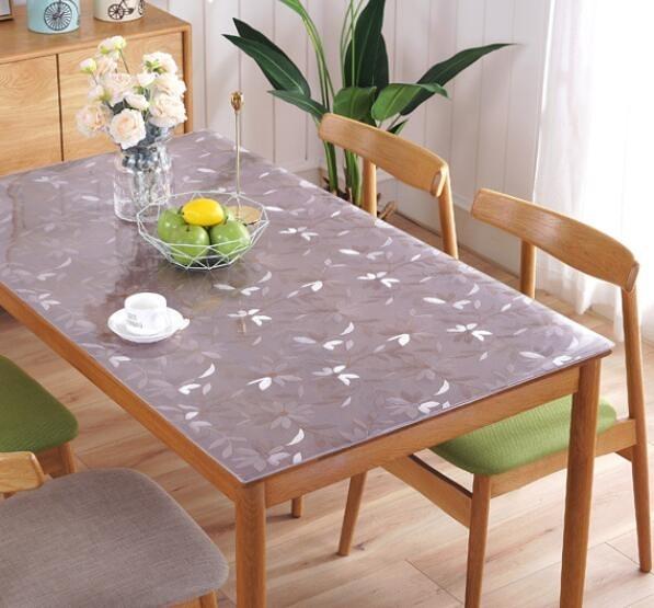桌墊 軟玻璃桌布防水防油免洗透明PVC塑料餐桌墊茶幾墊防燙水晶板加厚【快速出貨八折鉅惠】