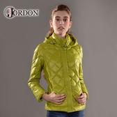 【JORDON 橋登  女 超輕量羽絨夾克《鮮綠》】439/輕量化羽絨衣/可收納羽絨衣/保暖羽絨外套
