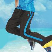 日本名牌 KAWASAKI 男女平織網裡運動長褲-深藍#K218B1