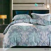 ☆吸濕排汗法式柔滑天絲☆ 特大 鋪棉床包兩用被四件組(加高35CM)《雅序》