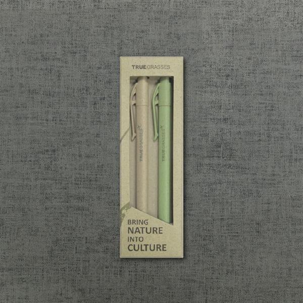 真稻筆二入/米 + 草綠 (15cm)【TRUEGRASSES】