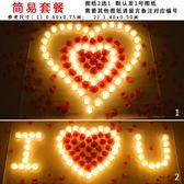蠟燭LED電子蠟燭燈七夕情人節交換禮物錶白創意生日布置道具套餐【完美生活館】