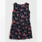 Gap女幼甜美風格燈芯絨無袖洋裝489112-海軍藍花紋