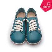 【A.MOUR 經典手工鞋】原味饅頭- 藍綠 / 氣墊鞋 / 平底鞋 / 進口小牛皮 / 超軟饅頭鞋/ DH-2808