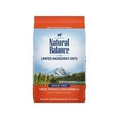 ◆MIX米克斯◆【現折300元】美國NB.Natural Balance地瓜鮭魚全犬低敏配方【24磅】