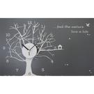時鐘壁貼【WD-170 銀白世界】藝術壁貼 空間設計 無毒無痕 窗貼 創意壁貼 英國設計 現貨供應