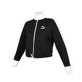 PUMA 女流行系列T7短版立領外套(免運 歐規 休閒 慢跑 路跑≡排汗專家≡