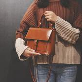 托特包 復古時尚手提女包包新款歐美休閒單肩包森系學院百搭斜挎包潮 聖誕狂歡購物節