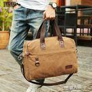 歐美潮流旅行包帆布包男包大容量單肩包戶外...