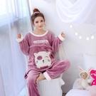 哺乳睡衣 冬孕婦月子服加厚珊瑚絨產后哺乳睡衣內刷毛刷毛保暖法蘭絨懷孕期家居服