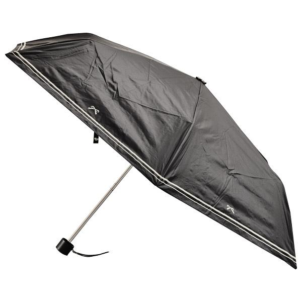 晴雨兩用折疊傘 50cm RIBBON BK NITORI宜得利家居
