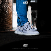 IMPACT Adidas Yeezy Boost 350 V2 Static 灰 白 3M 反光 透明 白天使 EF2905