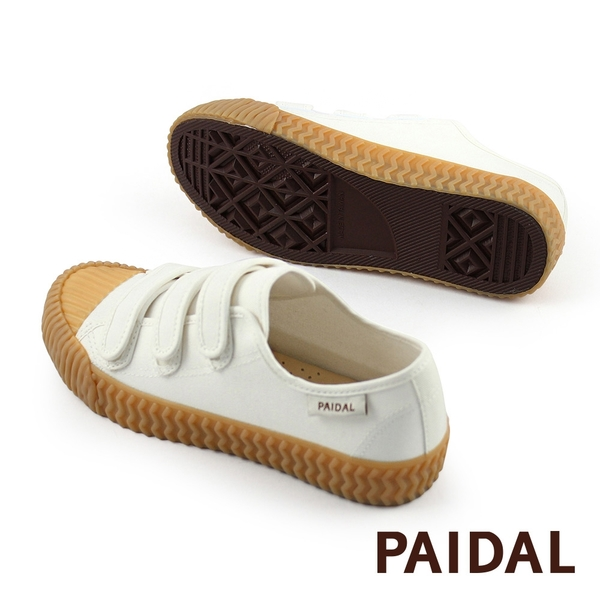 Paidal 魔鬼氈休閒鞋餅乾帆布鞋-小白鞋(預購商品,5/14出貨)