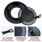 韓式卡式爐燒烤盤GP-16鋁制不黏家用戶外便攜圓形燒烤盤  時尚潮流