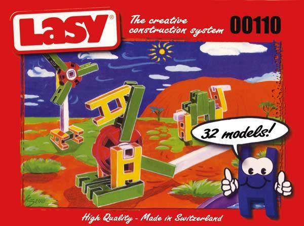 瑞士原廠Lasy積木0110十片組-組合式創意積木