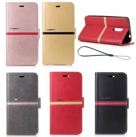 【SZ15】紅米Note4X 典雅系列 拼色拼接掛繩錢包款翻蓋插卡皮套 紅米Note4X手機皮套
