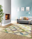 范登伯格 凱爾 現代幾合玩色地毯 圓朵 80x150cm