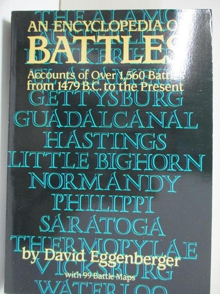 【書寶二手書T1/歷史_KOO】An Encyclopedia of Battles: Accounts of over 1560…