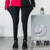 超彈力刷毛工作褲【SP1189】OBIYUAN韓版黑色釘釦素面休閒褲 共5色 情侶款