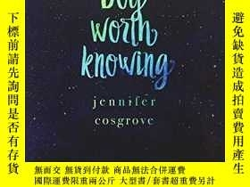 二手書博民逛書店A罕見Boy Worth KnowingY255562 Jennifer Cosgrove Ninestar