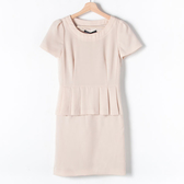 【MASTINA】簡約氣質洋裝-杏 網路獨家洋裝