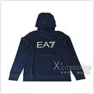 EMPORIO ARMANI EA7白黑字LOGO字母純棉男士連帽T恤(S/M/L/XL/海軍藍)