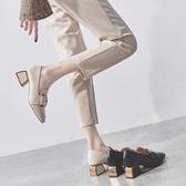 粗跟單鞋女鞋新款秋鞋高跟鞋百搭英倫風小皮鞋中跟樂福鞋  夏季上新