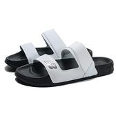 NEW BALANCE 涼鞋 拖鞋 白黑 兩槓 膠底 運動拖 女 (布魯克林) SWF202DW