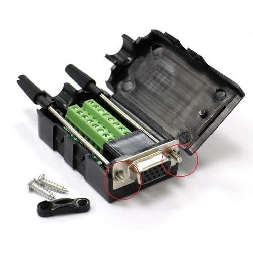 高清VGA15P 母(3+9)免焊式DIY接頭組合包 (長螺絲)