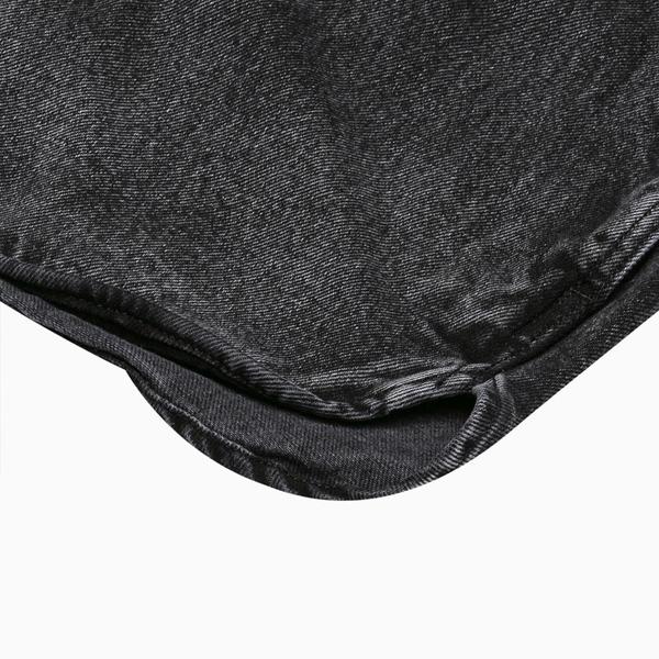 Levis 男款 連帽牛仔外套 / 全一色刺繡Serif Logo / 黑魂