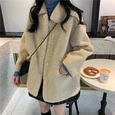冬裝外套女新款洋氣網紅時尚百搭毛毛寬鬆保暖羊羔毛棉衣ins 雅楓居
