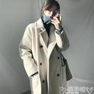 毛呢大衣 赫本風毛呢外套女2020年新款流行韓版秋冬季加厚呢子大衣中長款潮 嬡孕哺