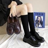 小皮鞋女英倫風黑色單鞋2020春秋新款百搭平底復古圓頭網紅學生鞋 艾瑞斯