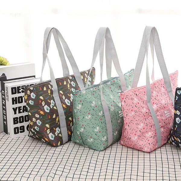 《WEEKEIGHT》時尚高質感防潑水可摺疊保溫袋/保冰袋/便當袋/午餐袋/野餐包