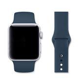 Apple Watch 40mm單色運動型矽膠錶帶(午夜藍)