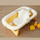 PiYo黃色小鴨-攜帶式摺疊浴盆+沐浴墊(830605)[衛立兒生活館]